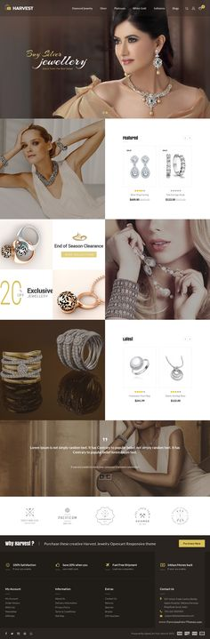 Harvest is Multipurpose Opencart #Responsive Theme is specially designed for #Jewellery #shop website template.