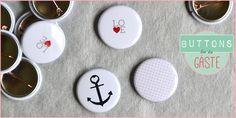 Buttons for the guests - great idea   Individuelle Buttons für die Hochzeitsgäste   Wedding ideas   Wedding Photo