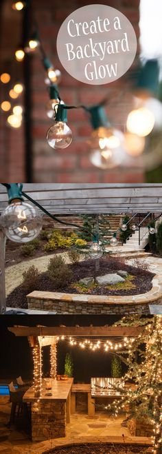 Create that beautiful outdoor glow this summer by hanging clear globe lights over the deck and patio or under a pergola. These patio string lights will make you fall in love with your backyard again!