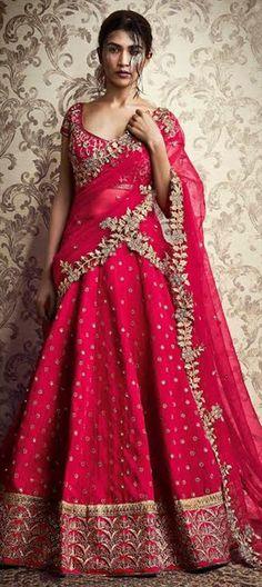 731772 Pink and Majenta  color family Brides maid Lehenga, Mehendi & Sangeet Lehenga in Net, Silk fabric with Border, Machine Embroidery, Thread work .