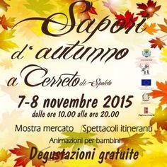 Programma Sapori Autunno a Cerreto di Spoleto