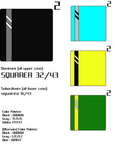 Student Name: Chelsea Bilzing///Page Layout FA2015 SCC///Project Number and title: Project 2 Square///Description of the project: Square Logo with Color Palette Variations and Style Guide.