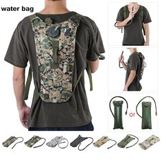 Cheap hydration backpack, Buy Quality water bag molle directly from China water bag Suppliers: Water Bag Molle Military Tactical Hydration Backpack Water Bag Liner Camelback camping camelback bicycle mochila de Hydration Hiking Backpack, Backpack Bags, Camping Packing, Bottle Bag, Bicycle, Pouch, Backpacks, Mens Tops, Stuff To Buy