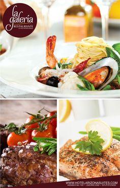 Restaurante la Galería el mejor lugar para compartir, disfrutar y celebrar con tu familia y amigos, conoce nuestros platos de cocina mediterránea e internacional con una amplia carta de vinos. comunícate con nosotros al 5726020 Ext 512