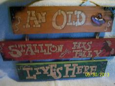 Hand Painted Western Lives Here Sign by DRW1ofaKinds on Etsy, $25.00