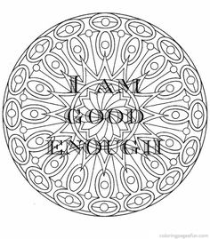 """byebyethinspo: """"When I was in treatment, my social worker printed out some positive affirmations for me. I couldn't find the source of them, so I added some positivity to some mandalas I had saved on..."""