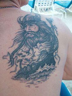 Viking Tattoo On Back For Men