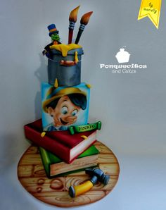 Pinocho Airbrush Cake by Marielly Parra