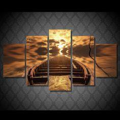 HD Printed lodka nebo priroda Painting Canvas Print room decor print poster picture canvas Free shipping/NY-5901