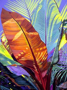 Carol Sims tropical plant painting