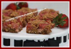 Healthy Strawberry Rhubarb Bars