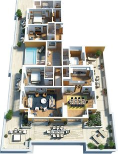 Ideas Apartment Building Modern Floor Plans Create Architecture and Floor Plans Sims House Plans, House Layout Plans, House Layouts, House Floor Plans, Sims 4 House Design, Casas The Sims 4, Modern Floor Plans, Model House Plan, Apartment Floor Plans