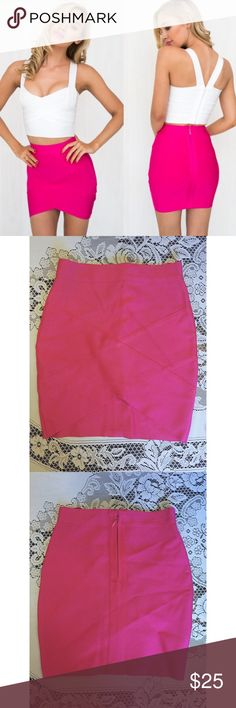 NEW Sexy Barbie Hot Pink Bandage Mini Pencil Skirt New! One available. Women's size medium. Flattering on every body type. Wonderful quality fabric. Satisfaction guaranteed. Next day shipping! Free gift with every purchase. Bundle & save $$$! Feel free to ask any questions. Not nasty gal, using for exposure. Tags: doll, beautiful, cute, revealing, cosplay, clubbing, rave, dance, night out, curvy, form fitting, adorable Nasty Gal Skirts Mini