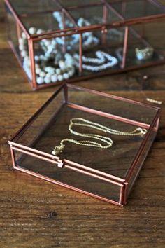 Copper  Glass Storage Box