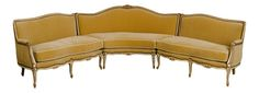 1940s Louis XV style sectional mohair sofa