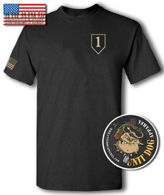 1ST ID; T-Shirt; Apparel; UNIT DOG APPAREL; The 1st Infantry Division; of the United States Army; is the oldest continuously serving division, in the regular United States Army.