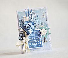 Coastal Escape card by Kaisercraft DT Anna Zaprzelska Beach Cards, Beautiful Handmade Cards, Ocean Themes, Card Maker, Scrapbook Cards, Scrapbooking, Card Tags, Cool Cards, Greeting Cards Handmade