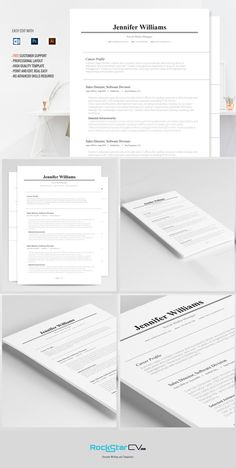 134 best cv templates images on pinterest resume design cv