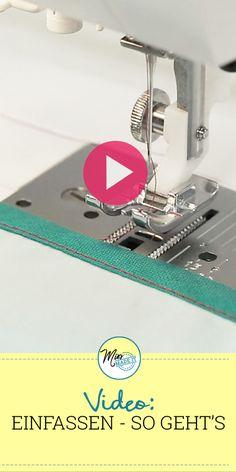 Video-Tutorial: Stoff einfassen mit Schrägband