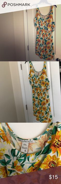 Selling this Sunflower American Rag Sundress Bought in Hawaii on Poshmark! My username is: redbonediva. #shopmycloset #poshmark #fashion #shopping #style #forsale #American Rag #Dresses & Skirts