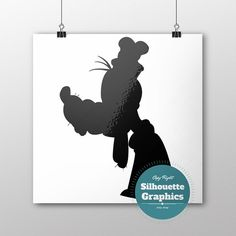 Goofy silhouette file svg eps disney font by SilhouetteGraphics