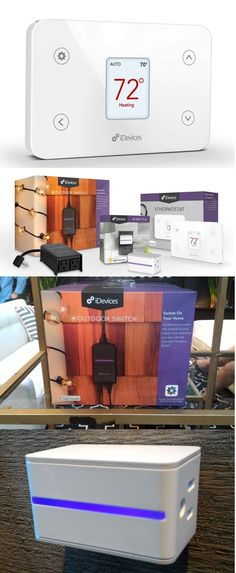 """Aiming to make a smart home smarter, iDevices launched three devices which can be controlled with an app or your voice. The Thermostat ($150), Switch ($60) and weatherproof Outdoor Switch (ready in November) use Apple's HomeKit standard to communicate with each other. A single voice command like """"I'm ready for bed"""" can turn off lights, lower the temperature and, using Schlage's Sense deadbolt lock, lock the front door. The Switch, Thermostat and free iDevices iOS app will be available Sept. ..."""