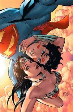 Superhéroes de DC Comics se toman sus selfies. (© DC Entertainment)-  Superman y La Mujer Maravilla por Tony S. Daniel
