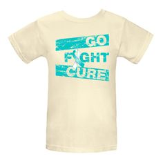 Wear it out loud for cancer awareness with the motto Go Fight Cure on Cervical Cancer shirts, apparel, tees and unique awareness gifts featuring a cool distressed design with  an awareness ribbon to support the cause. #CervicalCancerawareness   #cureCervicalCancer  #fightCervicalCancer