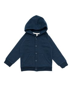 Take a look at this Night Blue Organic Hoodie - Infant, Toddler & Kids by Gray Label on #zulily today!