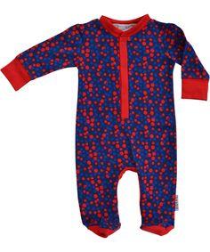 Adorable combinaison à pois multicolore par Baba Babywear. baba-babywear.fr.emilea.be