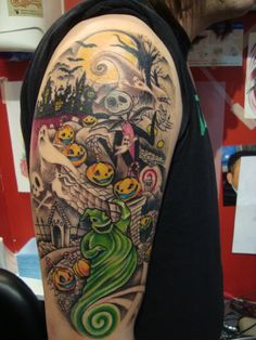 Halloween Tattoo Designs | before christmas tattoo by emerica86 designs interfaces tattoo design ... Half Sleeve Tattoos Designs, Sleeve Tattoos For Women, Tattoos For Guys, Tattoo Designs, Design Tattoos, Dream Tattoos, Body Art Tattoos, Cool Tattoos, Faith Tattoos