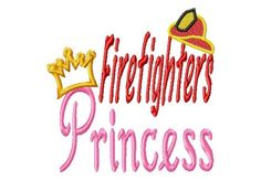 Firefighters Princess  CrownHat Applique  Machine by LilliPadGifts, $4.50