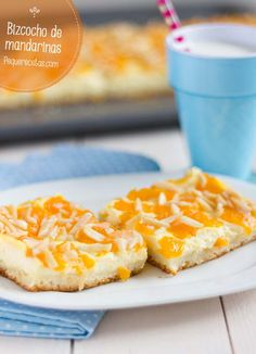 Bizcocho de mandarinas y queso fresco , Este bizcocho de mandarinas es un bizcocho que les encantará a todos, tanto pequeños como mayores, por su sabor tan refrescante, en nuestra casa no ...