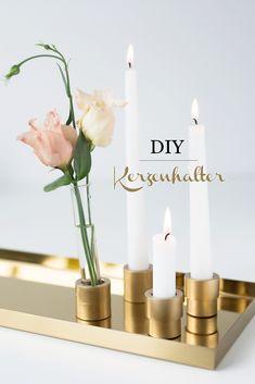 DIY Quickie: Kerzenhalter aus Steckmuffen