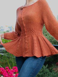 Knit pattern: Silke Jacket by Shannon Okey Published in Brave New Knits on Ravelry