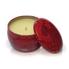 Voluspa Decorative Tin Candle | Goji & Tarocco Orange