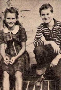 Debbie as a little girl. Her brother, Bill.
