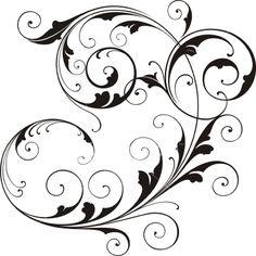 Free Wedding Clip Art For Invitations Swirl Tattoo, Wedding Clip, Free Wedding, Free Clipart Images, Lesage, Stencil Patterns, Scroll Design, Motif Floral, Swirl Design