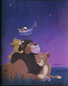 King Mufasa and Queen Sarabi with their son, Simba, and Zazu. Nala Lion King, The Lion King 1994, Lion King Fan Art, Simba And Nala, Simba Disney, Disney Lion King, Happy Cartoon, Cartoon Pics, Avatar Animals