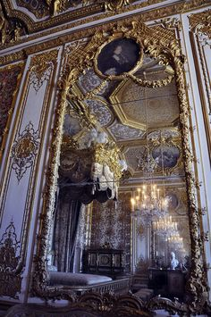 Versailles, Paris - I used this bedroom to draw for my history interior design class.
