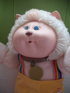 Vintage Cabbage Patch Kids Koosas Cat Doll by LolosGarden on Etsy, $13.00