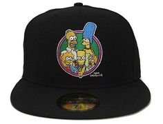 Era The Simpsons - Bart- Homer - The Simpson Family Baseball Cap Fitted Baseball Caps, Fitted Caps, New Era Fitted, Black Snapback, New Era Hats, New Era 59fifty, Cool Hats, The Simpsons, Custom Shoes