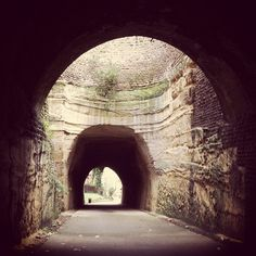 The tunnel in The Park, Nottingham. Photo via ninalouise1975