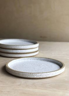 White Speckled Ceramic Plates