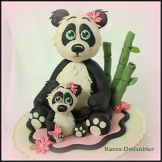 Panda Baby Shower cake by Karen Dodenbier