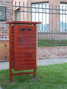 Resultado de imagen para cestos basura de madera - Cestos de madera ...