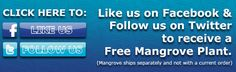 Like OCReef.com on facebook and tweet OCReef.com on twitter to receive a free mangrove plant.