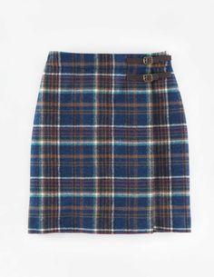 Kilt aus britischem Tweed WG639 Röcke bis übers Knie bei Boden