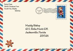 Old mail envelopes templates in templates and design patterns for letter from santa template word from santa envelope maddy spiritdancerdesigns Choice Image