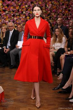 Couture for Christmas: Dior Fall 2012 couture red coat dress